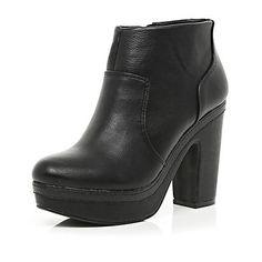 Black platform ankle boots $50.00