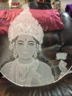 Goddess  Indian Temple.  Glass carving by Fernando Reyes www.reyesglass.com