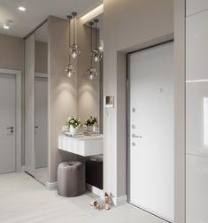 Home Room Design, Home Interior Design, House Design, Home Entrance Decor, House Entrance, Flur Design, Hallway Designs, Front Rooms, Hallway Decorating