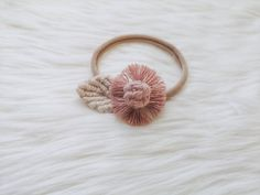Macrame Headband, Boho Headband, Floral Headbands, Toddler Headbands, Newborn Headbands, Macrame Art, Cute Bows, Cotton Rope, Dusty Rose
