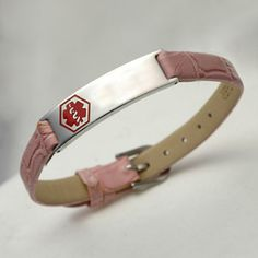 This Is Actually A Cute Medic Alert Bracelet Just Dont Like Pink And Red Together