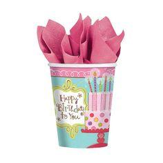 Sweet Stuff Birthday Paper Cup 9oz 8ct