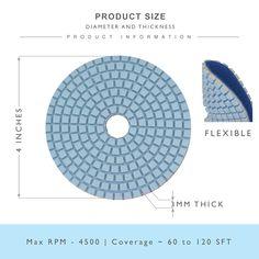 Tuff Buff Diamond Polishing Pads 12 Pc Set With Rubber Backer Wet Dry Drill
