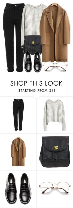 """""""Без названия #1524"""" by sabina-127 ❤ liked on Polyvore featuring Topshop, H&M, WithChic, Chanel and Oxford"""