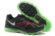 404J87 Black Volt Metallic Silver Nike Air Max 2012 Men's Running Shoes