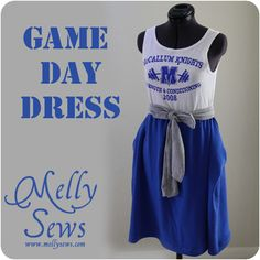 Melly Sews: Game Day Dress Tutorial (not as cute as the one I made but at least this one has instructions. I had to make mine from just looking at the picture.)