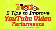 5 Tips to Improve YouTube Video Performance http://www.socialmediaexaminer.com/5-tips-to-improve-youtube-video-performance?utm_source=rss&utm_medium=Friendly Connect&utm_campaign=RSS @smexaminer