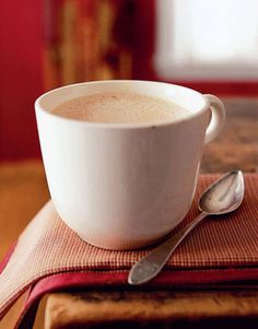 Vanilla Café au lait ~Ingredients:  11/2cup(s)Half11/2cup(s)  Whole Milk;2tablespoon(s)Sugar  1Vanilla Bean, split lengthwise  3cup(s)Hot, Strong Brewed Coffee  Directions:Make the café au lait:Combine half, milk & sugar in a small saucepan. Scrape seeds from vanilla bean into the milk mixture & add bean to saucepan. Simmer over low heat for 20 mins.Remove the  bean from milk mixture &  whisk for 1 minute. Fill each mug with 1/2 cup of hot coffee and 1/2 cup milk mixture. Serve