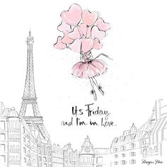 It's Friday and I'm in love.... Don't wait to be given flowers tomorrow! Buy your own balloons and float to the Eiffel Tower!