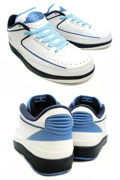 hot sale online 531e1 7d2ab Air Jordan 2 II Low RetroWhite Midnight Navy University Blue Shoes with  exceptional superior with styles to attract the eye, caught the  consideration of ...