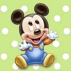 Baby Mickey Mouse! Perfect! My inspiration for my new lil prince :D