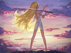long hair Monogatari Series Oshino Shinobu looking back anime girls New Wallpaper Hd, Girl Wallpaper, Wallpapers, Desktop Backgrounds, Manga Anime, Anime Art, Katana Girl, Shinobu Oshino, Kiss Shot