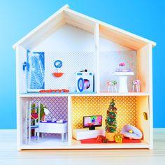 Barbie Dolls Diy, Diy Barbie Clothes, Barbie Doll House, Mini Doll House, Diy Crafts For Gifts, Diy Home Crafts, Barbie House Furniture, Doll House Crafts, Doll Houses
