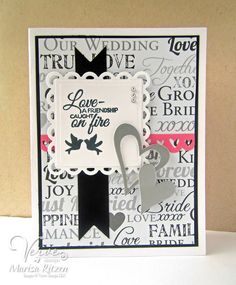 Handmade card by Marisa Ritzen using the Love Story stamp set from Verve. #vervestamps