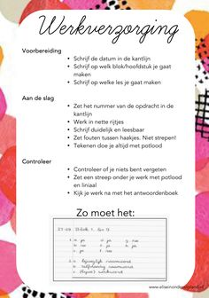 Werkverzorging - Kaart - Netjes - School