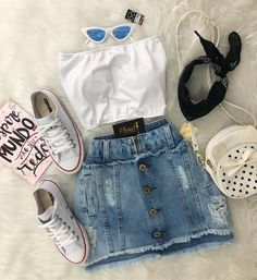 Best Teen Fashion Part 30 Teenage Outfits, Teen Fashion Outfits, Cute Fashion, Outfits For Teens, Stylish Outfits, Girl Outfits, Cute Summer Outfits, Summer Wear, Spring Outfits