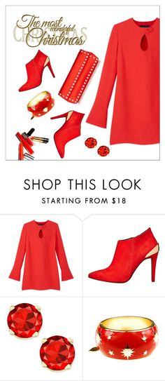 """Red Christmas"" by xlainyboo ❤ liked on Polyvore featuring Derek Lam, Love Moschino, Rosie Fox and Valentino"