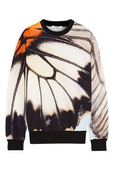 Givenchy Sweatshirt in cotton-terry with butterfly print | NET-A-PORTER