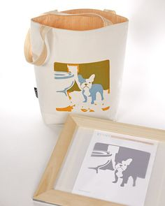 Silk-Screen Tote Bag Use this simple technique to make beautiful silk-screen prints, perfect for decorating tote bags, T-shirts, and more.via Martha Stewart Living