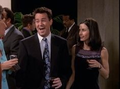 The one with the pretty floral tie. | Chandler Bing's 19 Most Heinous Outfits