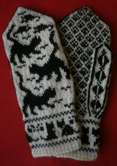 Valokuva Mittens Pattern, Knit Mittens, Knitted Gloves, Knitting Socks, Hand Knitting, Knitting Charts, Knitting Patterns, Crochet Patterns, Norwegian Knitting