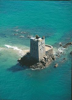 Seymour Tower, Jersey, Channel Island, UK Jersey, a British channel island just off the coast of France.