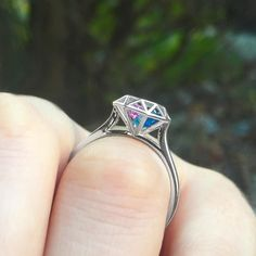 Our popular Diamond Cage Ring offers a beautiful and unique way to honor your loved ones. You can fit up to four sparkling heart-shaped birthstones inside the 3D diamond cage for a truly personal touch. Customize yours at Jewlr.com with free shipping, free resizing, free returns and a free bonus gift!