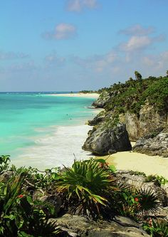 Tulum Mexico, the Mayan Riviera, just to be on a beach like this anywhere right now...