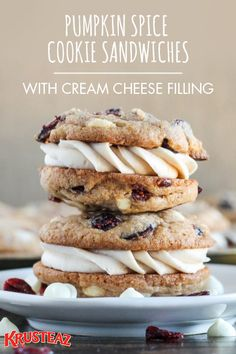 What could possibly be better than cookies? Obviously, two cookies filled with cream cheese icing. Amp up your Valentine's Day menu with these showstopping, mouthwatering Pumpkin Spice Cookie Sandwiches. Whether they're for a date night with your spouse or an edible V-Day gift for the friends and family—this dessert idea is simply too good not to share with your favorite people!