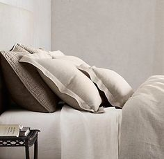 Parure de lit Evan Checkered Style Contemporain Chambre Linen Pillow Bed sets