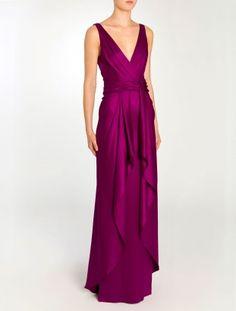 Temperley London Long Greta V Neck Dress Designer Evening Dresses, Evening Gowns, V Neck Dress, Dress Up, Temperley London Dress, Bridesmaid Dress Styles, Wedding Dresses, Silk Gown, Looks Cool