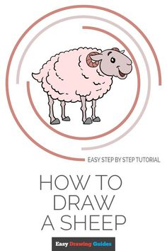Learn How to Draw a Sheep: Easy Step-by-Step Drawing Tutorial for Kids and Beginners. #Sheep #drawingtutorial #easydrawing. See the full tutorial at… More Craft Projects For Kids, Arts And Crafts Projects, Craft Ideas, Easy Animals, Draw Animals, Sheep Drawing, Drawing Tutorials For Kids, Drawing Ideas, Popular Cartoons