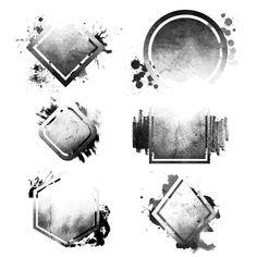 A abstract logo design Vector Hipster Design, Hipster Logo, Geometric Shapes Art, Abstract Shapes, Grunge, Trash Polka, Hexagon Tattoo, Banners, Banner Shapes