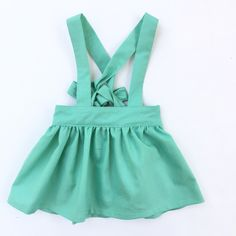 Mint Suspender Skirt for baby girls and toddlers