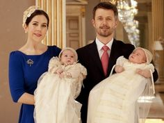 Crown Princess Mary & Crown Prince Frederik of Denmark with Prince Vincent & Princess Josephine - Christening 2011 | #royalerio