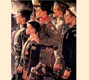 Norman Rockwell -- the old days, Military pride! :)