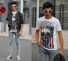 Zero Uv, H, Tee Anarchist, Cheap Monday Cheapmonday Jeans, Converse All Star