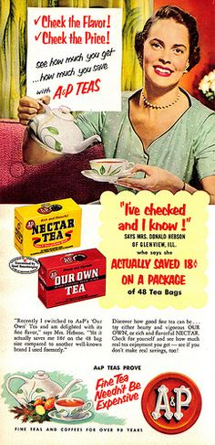 Vintage Ad #579: The Flavour! The Price! She looks kind of like one if those vintage post mortem posed pictures