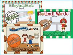 This bundled package includes three units (Basketball, Football and Volleyball-Dolch 3,4 and 5) of my ball word/dolch word mastery system which is ...