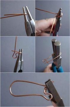 STUDIO ARTESANIA: JEWELRY 101: HOW TO MAKE KIDNEY EARWIRES - Video tutorial included