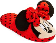 Disney Mickey or Minnie Mouse Womens Slippers Minnie Mouse Slippers, Bedroom Slippers, Ciabatta, Disney Style, Womens Slippers, Disney Mickey, Liz Claiborne, Shoes Sandals, Baby Shoes