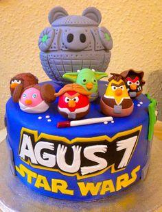 Cocinando dulce y salado: #Tarta #Angry #Birds #Star #Wars #cake #fondant