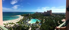 View from our room -The Cove - Dolphin suite - Atlantis - Panoramic view - #Island view + Ocean view + Resort view + Dolphin Cay + Harbor view = #AtlantisDoneRight - Bahamas - Paradise