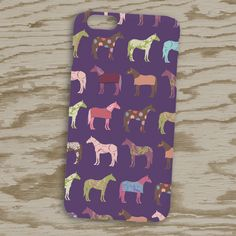 Fun Colorful Horses equestrian Phone Case - from The Painting Pony - Good for Iphone and Samsung galaxy cases.