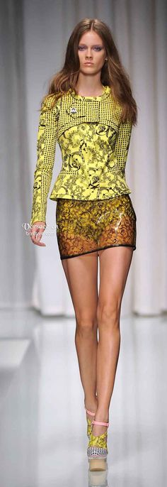 Versace Spring Summer.  (Are minis this short ever age-inappropriate?  Not with those legs!)