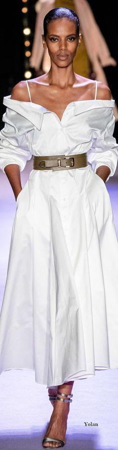 Sueños compartidos : Spring 2020 Brandon Maxwell Runway Fashion, Fashion Show, Womens Fashion, Fashion Design, Red Shirt Dress, Brandon Maxwell, Brown Girl, High End Fashion, Fashion Labels