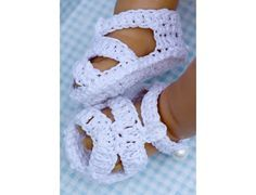Free Baby Crochet Patterns | CC21b-Classic Crochet Baby Sandals Pattern