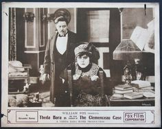 1915 The Clemenceau Case - Theda Bara