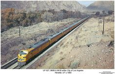 UP & w/the City of Los Angeles Moving Cross Country, Railroad Companies, Commuter Train, Train Posters, Fort Morgan, Union Pacific Railroad, City Car, Diesel Engine, Photo Postcards