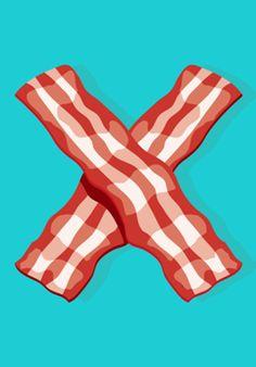 Poster I Love Bacon! do Studio Cristhianherman por R$45,00